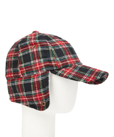 love this product Red Plaid Earflap Baseball Cap 4609cb738e8