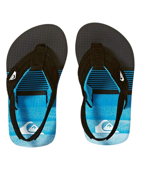 a107a64b424be love this product Black   Blue Molokai Back-Strap Flip-Flop - Boys