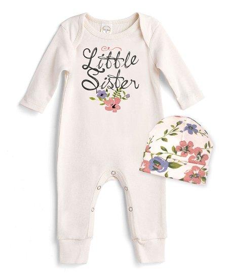 cc666f384af6 love this product Ivory  Little Sister  Romper   Quaint Flowers Beanie -  Newborn   Infant