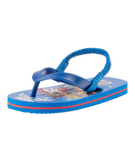 61f0c36ae1fde love this product PAW Patrol Blue Back-Strap Flip-Flop - Boys