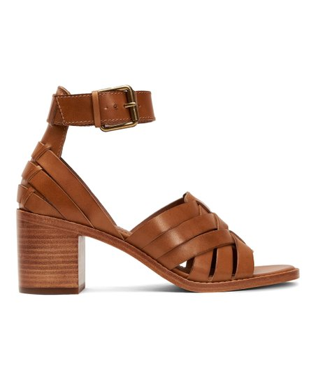 8c8fcf1f4e4c love this product Tan Bianca Huarache Two-Piece Leather Sandal - Women