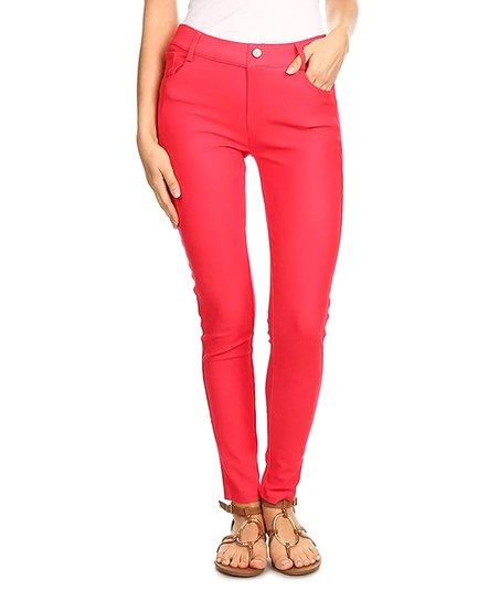 e0f5533aff6e2 SBS Fashion Red Five-Pocket Jeggings - Women   Zulily