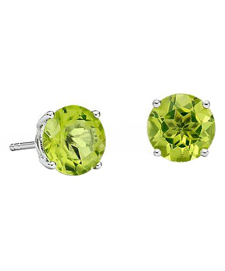 f06e44127 Green & 18k White Gold-Plated Circle Stud Earrings With Swarovski® Crystals