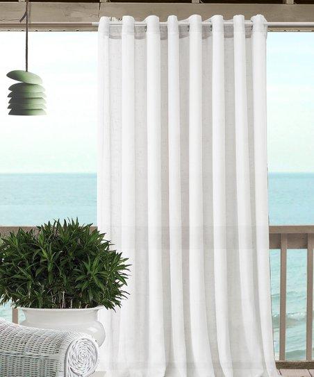 Elrene Home Fashions White Sheer Carmen Tieback Indoor Outdoor