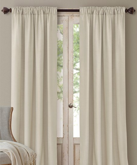 one curtain panel on window old farmhouse ivory cachet threeinone curtain panel elrene home fashions zulily