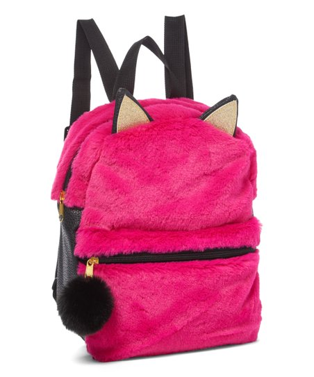 fe51e2269bd7 love this product Hot Pink Faux Fur Cat Mini Backpack