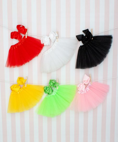 9c094f348 Dress Up Dreams Boutique Red Tutu   Bow Clip - Set of Six