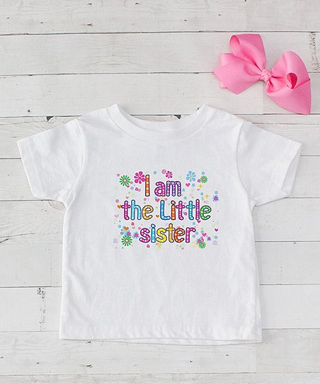 b53fa88e love this product White & Pink 'I'm the Little Sister' Tee Set - Infant,  Toddler & Girls
