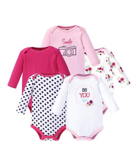 1ded2ec802 love this product Pink   White  Smile  Long-Sleeve Bodysuit Set - Infant