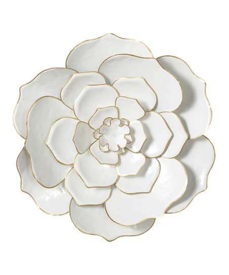 3eb47a61f0 love this product White & Gold Flower Wall Décor
