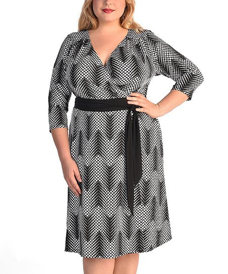 f3bfde5dbe1 love this product Black   White Dot-Chevron Dominique Dress - Plus