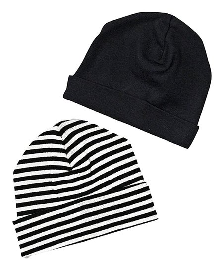 c403dd8fa9c love this product Black   White Stripe Beanie Set - Newborn   Infant