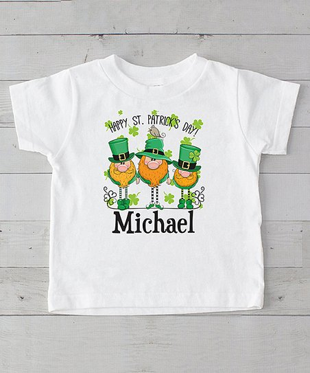 a211a7e09 love this product White 'Happy St. Patrick's Day' Leprechaun Trio  Personalized Tee - Infant, Toddler & Kids