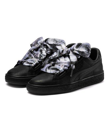 3c56ce055c6 PUMA Black Basket Heart Mimicry Leather Sneaker - Women