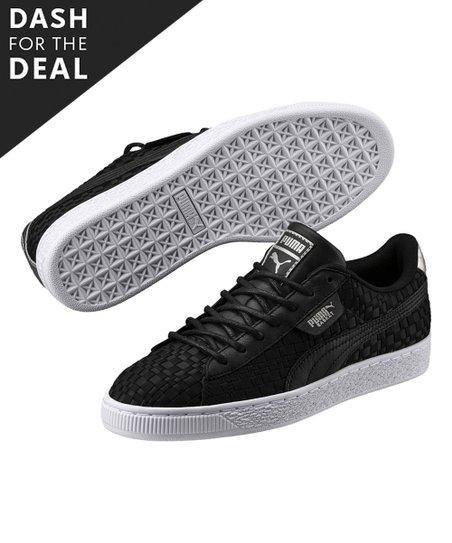 2736432567e711 PUMA Black   White Basket En Pointe Satin Sneaker - Women