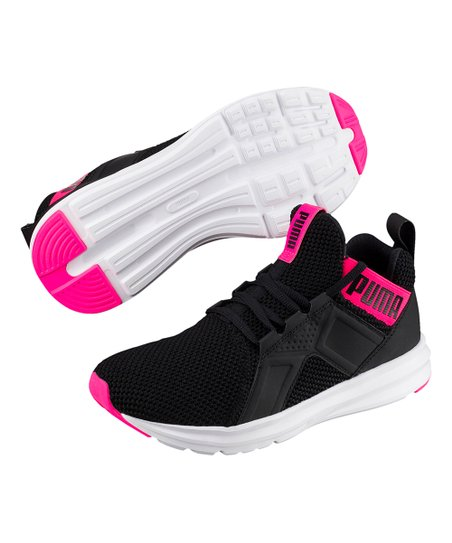 PUMA Black & Shocking Pink Enzo Weave Sneaker Women