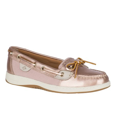 Sperry Top Sider Rose Gold Angelfish Topsider Boat Shoe Women