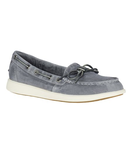 Gray Oasis Canal Canvas Boat Shoe