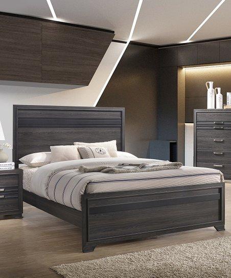 Pilaster Designs Gray Wood Dario Six Piece Bedroom Set Zulily
