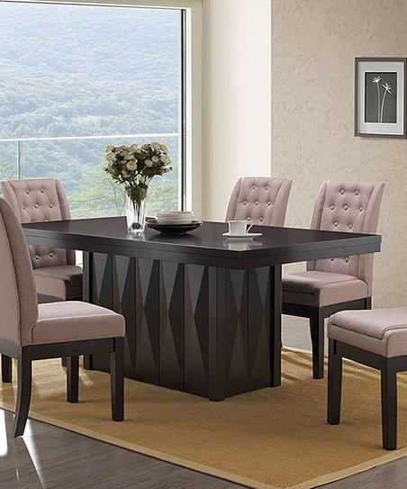 Pilaster Designs Walnut   Cappuccino Riley 7-Piece Dining Set  7c6728ef8
