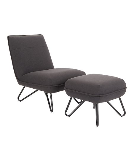 Wondrous Avesix Black Cortina Side Chair Ottoman Gmtry Best Dining Table And Chair Ideas Images Gmtryco