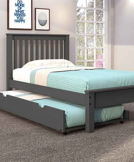 Gray Contemporary Twin Trundle Bed