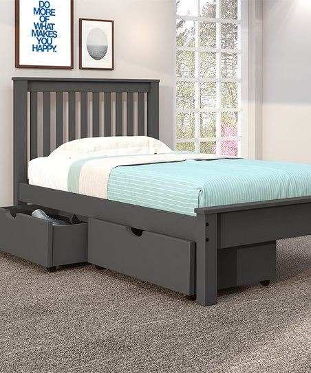 Donco Kids Gray Contemporary Storage Twin Bed  cf809c8e45