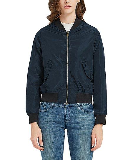 3b63d0054 Sundayrose Dark Blue Bomber Jacket - Women