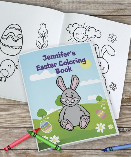 GiftsForYouNow Easter Personalized Coloring Book & 24-CT. Crayola ...