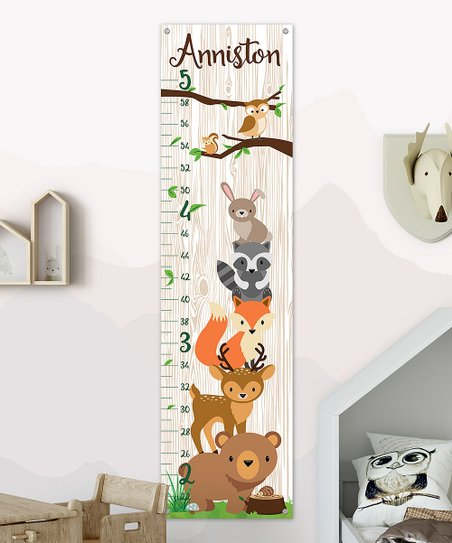 Love This Product Woodland Animals Personalized Growth Chart