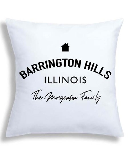 13a97b8e8db love this product White   Black Personalized Neighborhood Throw Pillow