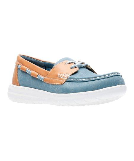 Clarks Blue Gray Jocolin Vista Boat