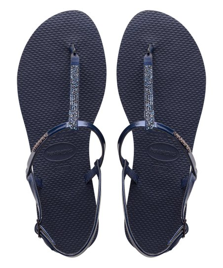 076f79843 love this product Navy Rhinestone-Accent You Riviera Sandal - Women