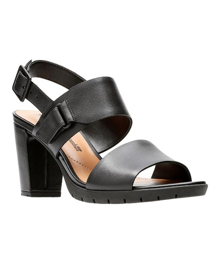 Clarks Kurtley Shine Slingback i Black Lyst