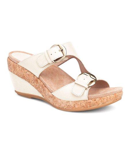 d5cc2530bb3 Dansko Ivory Carla Full-Grain Leather Wedge Sandal - Women