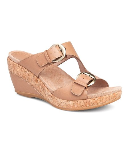 31bc55ccd33 love this product Sand Carla Full-Grain Leather Wedge Sandal - Women