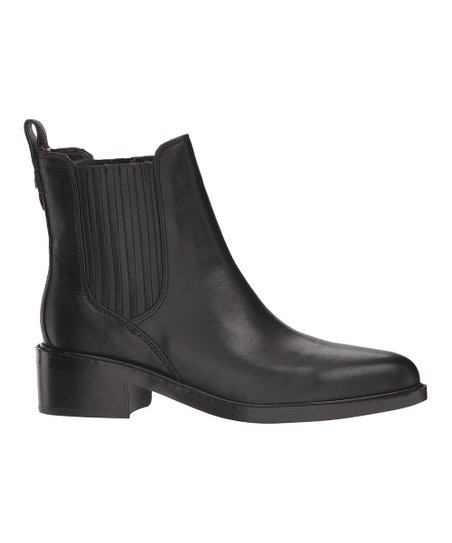 27c7f293 Tommy Hilfiger Black Wezley Leather Ankle Boot - Women | Zulily