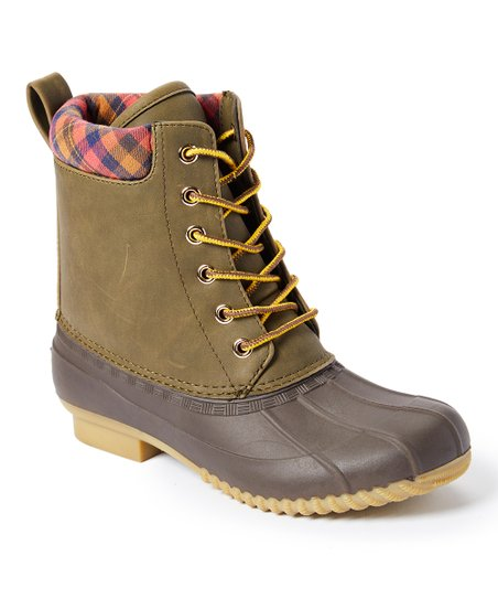 34a8c8f448c4 love this product Ivy Green   Espresso Russels Leather Duck Boot - Women