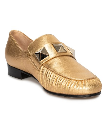 3a5bbd5eda7 Valentino Gold Macro Stud Loafer - Women