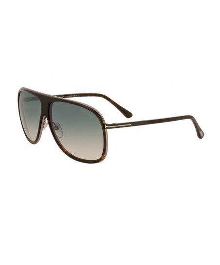 da1e0047e4 Tom Ford Havana   Gradient Green Shield Sunglasses