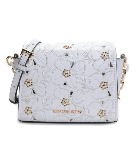 8fc44014f95b Michael Kors Optic White Sofia Small Leather Crossbody Bag | Zulily
