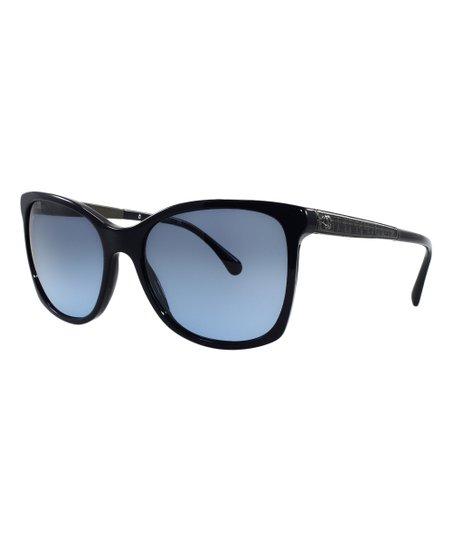 c99c58022b CHANEL Dark Blue Silver Chain Square Sunglasses 5260 Q c1237 S2 RARE  Authentic Source · Chanel Black   Blue Gradient Square Sunglasses Zulily