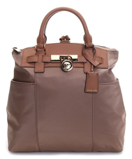 dc7132175b6755 Michael Kors Dark Khaki & Acorn Large Hamilton Convertible Backpack ...