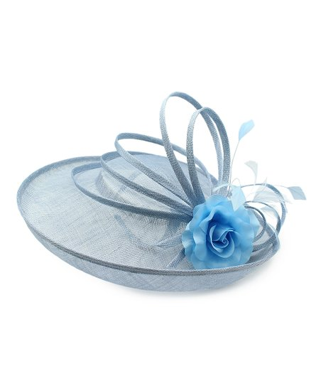 Something Special Light Blue Swirl   Floral Headband Fascinator  245be1285ae