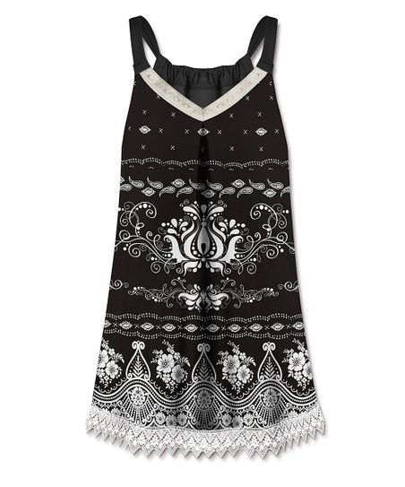 4ff7a10fb0 love this product Black & White Floral V-Neck Sleeveless Top - Women