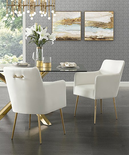 Inspired Home White Mazolini Faux Leather Side Chair - Set of Two ... 409154b69f