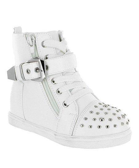 Pazzle White Ariel Combat Boot - Girls