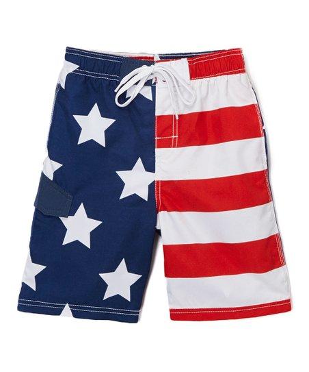 Red American Flag Patriot Boardshorts - Infant, Toddler & Boys