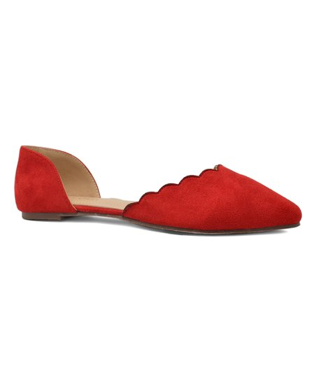 a558dd649f8f love this product Red Dalena Scallop D Orsay Flat - Women