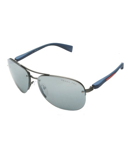 8072a7d1663 love this product Silvertone   Blue Aviator Sunglasses
